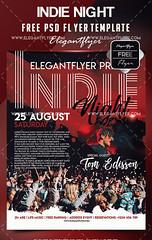 Free Indie Night Flyer Template (elegantflyers@) Tags: alternative band concert festival indie indienight indierock indieground rock underground