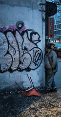 Candid Man in Soho - NYC (ChrisGoldNY) Tags: chrisgoldphoto chrisgoldny chrisgoldberg sonyalpha sonya7rii sonyimages sony newyork nyc newyorkcity albumcover bookcover graffiti streetart candid man homeless people night walls soho manhattan