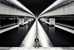 bridge at night (andrewlance photography) Tags: leicaimages 190mf3 28mm acton asph bridge canberra commonwealthavenuebridge elmaritm lr4 lake lakeburleygriffin leica lightroom4 m8 manfrotto parkes f28 longexposure myfamily myflickr night portait shadows silhouette water