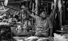 Hanging on (gunman47) Tags: 2017 asia asian b bw bangkok christmas december east maeklong mono monochrome province samut sepia siam songkhram south thai thailand w black people photography street tourist white tambonmaeklong changwatsamutsongkhram
