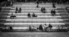 Week 12. 3 in a row (hmcgee18) Tags: stairs nikond3400 ual university arts london steps railing bw black white kings cross street photography nikon d3400 52weeksofphotography 52 week photo challange