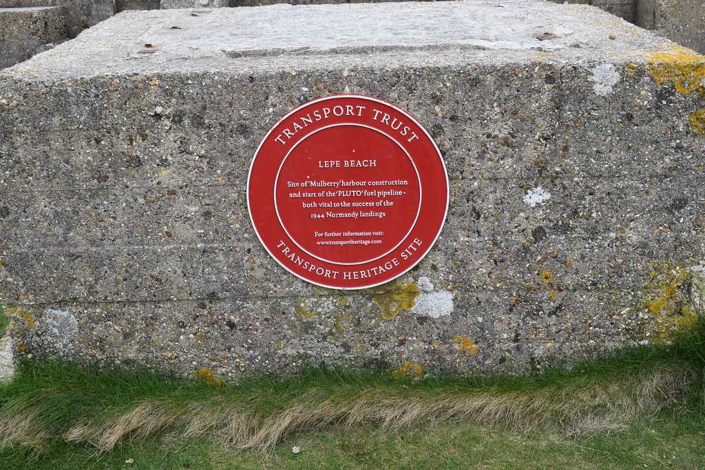 Transport Trust plaque to Lepe Beach