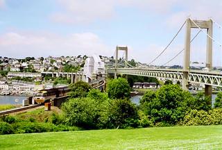 Tamar rail & road bridges, 3rd July 1993