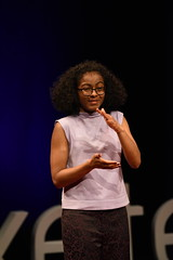 Rebekah Afari speaking at TEDxExeter 2018 at Exeter Northcott Theatre (TEDxExeter) Tags: tedxexeter exeter tedx tedtalks ted audience tedxevent speakers talks exeternorthcott northcotttheatre devon crowd inspiring exetercity tedxexeter2017 deafness deaf deafissues