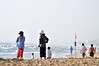 Taking it slowly (Roving I) Tags: elderly aged women friends beaches sea surf sand swimmers flags safety gentleexercise sunhats lifestyle leisure danang vietnam