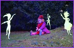 Sanrikes blaue Stunde im Grugapark ... (Kindergartenkinder) Tags: kindergartenkinder annette himstedt dolls sanrike gruga grugapark essen