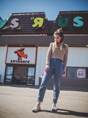 I don't want to grow up... (Vincent F Tsai) Tags: portrait fashion editorial environmental toysrus nostalgia retro vntage 80s vibe nostalgic sigma24mmf14dgart metabones speedbooster outdoor sun toy store closing childhood panasonic lumixgx8