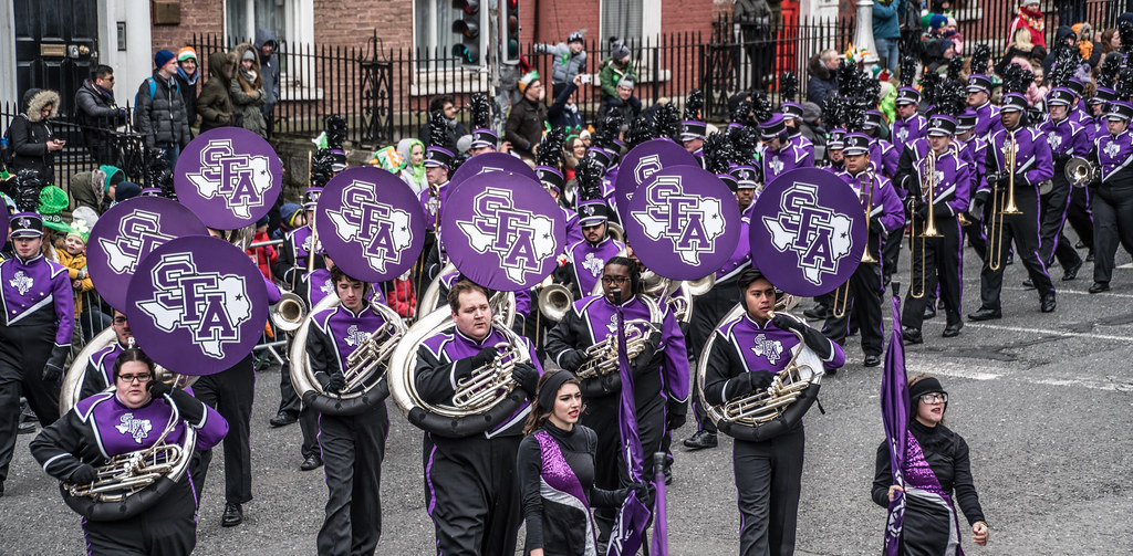 THE LUMBERJACK MARCHING BAND IN ACTION [ ST. PATRICKS DAY PARADE IN DUBLIN 2018]-137578