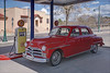 1950 Plymouth (Runemaker) Tags: 1950 plymouth car automobile sedan red servicestation fillingstation gasstation gilmore gasoline pump oldtown cottonwood arizona antique classic southwest usa
