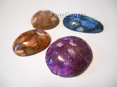 Faux Stones 2 by LynzCraftz Designz (LynzCraftz) Tags: polymer clay faux stones one kind handmade art mica powder glitter lyngill lynzcraftzdesignz
