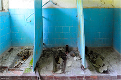 In a Pripyat School (Aad P.) Tags: chernobyl чорнобиль pripyat припять ukraine україна sovietunion cccp nuclearpowerplant radioactivity radiation urbex urbexphotography exclusionzone school toilets squattoilets blue
