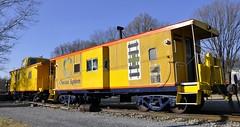 Hyndman, Pennsylvania (1 of 9) (Bob McGilvray Jr.) Tags: hyndman pa pennsylvania co chesapeakeohio caboose steel cupola baywindow display static railroad train tracks