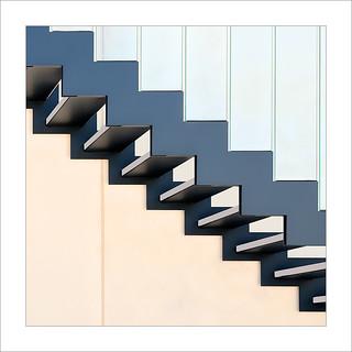 Diagonal amb graons / Diagonal with steps.