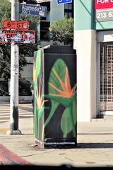 Electrical Box - Arts District L.A. (Joey Z1) Tags: birdofparadise birdofparadisestreetart paintedelectricalbox utilitybox urbanart laasseenbyjoeyz1 lastreetart artsdistrictla artofsuperunleadedgasoline urbanscene laartsdistrict downtownlosangeles dtla streetscene streetscenesla streetart sola polychromatic pentaxks1 bylaphotolaureatejoeyzanotti