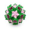 С Днем Рождения, Алена! (masha_losk) Tags: kusudama кусудама origamiwork origamiart foliage origami paper paperfolding modularorigami unitorigami модульноеоригами оригами бумага folded symmetry design handmade art