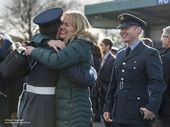 Family celebrations after the Graduation Parade dismissal (Defence Images) Tags: consentheld consent identifiable personnel rts ceremony families graduation graduationparade parade raf rafhalton recruits royalairforce squadron sqn recruittraining raf100 defence defense uk british military