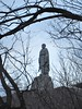 Trees at twilight frame Alyosha, Red Army monument atop Liberators Hill, Plovdiv, Bulgaria (Paul McClure DC) Tags: plovdiv bulgaria balkans feb2018 пловдив българия sculpture historic scenery