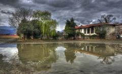 Dopo la pioggia (celestino2011) Tags: nuvole riflessi casaabbandonata salice hdr