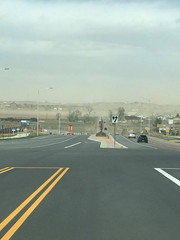April 17, 2018 - Dust blowing from monstrous winds. (Amy Nolan Strawser)