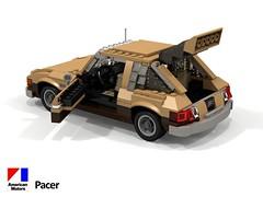 AMC Pacer Hatch - 1975 (lego911) Tags: amc american motor coropration pacer 1975 1970s classic hatch hatchback economy usa america auto car moc model miniland lego lego911 ldd render cad povray