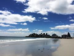 mothers_beach_winter_snap (dinidesign) Tags: mothersbeach beach seaside wetsand clouds kennebunk kennebunkbeach maine sunshine snapseed