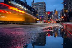Commuters (Régis Corbet) Tags: 011400 america amérique iptcscenes ny newyork night nuit scènedenuit us usa unitedstates unitedstatesofamerica nightscene étatsunis étatsunisdamérique street rue