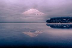 Fuji in the misty morning (shinichiro*) Tags: 20180313ds51943edithdr 2018 crazyshin nikond4s afsnikkor2470mmf28ged fuji japan spring march lakeyamanaka nik hdr