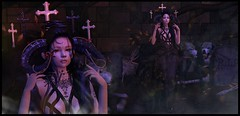 Call on the Darkness (:-parfaitsprinkles-:) Tags: cubiccherry sintiklia stardust foxcity enfantterrible lootbox c88 collabor88 spotcat dark march cross crosses horns spirit song night darkness phedora