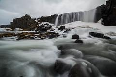 Öxarárfoss Waterfall (Camino Estrada) Tags: öxarárfoss waterfall iceland water rock sky winter cold canon canon6d