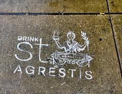 Drink - NYC (verplanck) Tags: sidewalk manhattan nyc chelsea streetart graffiti