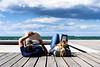 Couple Goals (Abdalis_3k60) Tags: nikon d7500 greece thessaloniki street books reading sky sea coast chilling people couple