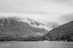 White Morning (wilbias) Tags: lake mirror mountain range snowcapped mountains snow black white monochromatic cultus british columbia bc canada winter february morning