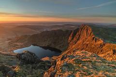'Cadair Sunrise' - Cadair Idris, Snowdonia (Kristofer Williams) Tags: cadairidris llyncau mountain snowdonia lake sunrise wales morning landscape mountains light sunlight