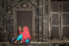 Pashmina Shawl Seller (tehhanlin) Tags: cashmere lady women woman seller people places place culture faces face nepal kathmandu sony ngc pashmina portrait portraits travel himalaya