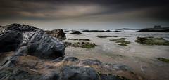 Fistral (paullangton) Tags: cornwall fistral coast beach sand rocks sky blue green canon westcoast