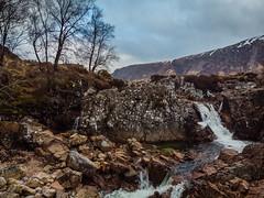 Etive Mòr Waterfall (Ian D) Tags: buachailleetivemòr drone scotland winter waterfall glencoe unitedkingdom gb