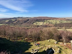 Surprise View, March 2018 (Dave_Johnson) Tags: surpriseview surprise view peakdistrict nationalpark peaks hills derbyshire longshaw longshawestate hopevalley leam climbers climbing eyammoor eyam moor