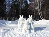 Snow rabbits (MelindaChan ^..^) Tags: siberia russia 俄羅斯 西伯利亞 lake baikal 貝加爾湖 2018 chanmelmel mel melinda melindachan ice snow people nature winter cold frozen life travel pine tree slope alkhon island 奧爾洪島