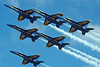 image from us military (San Diego Air & Space Museum Archives) Tags: blueangels fa18a f18a fa18 hornets formation flight airshow keywest show demostration smoke florida
