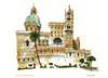 Palermo Cathedral, Sicily (wanstrow) Tags: palermo drawing duomo sicily italy illustration pink