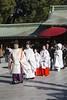 Tokyo - Wedding Ceremony in Meiji Shrine (Rolandito.) Tags: tokyo asia tokio japan japon nippon wedding ceremiony harajuku meiji shrine temple people ceremony