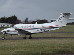 G-FLWY Beech Super King 200 FlyWales Ltd (Aircaft @ Gloucestershire Airport By James) Tags: gloucestershire airport gflyw beech super king air 200 flywales ltd egbj james lloyds