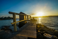 DSC01394 (Damir Govorcin Photography) Tags: water camp cove beach watson bay sydney sunset golden hour natural light wide angle zeiss 1635mm sony a7rii rocks
