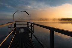 Riedsee in Hüfingen (buchsammy) Tags: abigfave hüfingen landschaft mrgens nebel riedsee sonnenaufgang sonyrx100v sunrise deutschland fog kieswerk landscape mrning schwarzwald