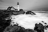 A moody view of Portland Head Light (Andrew P ( the_aberrant)) Tags: nature outdoors ocean environment lighthouse landscape longexposure maine blackandwhite adventure exploration eastcoast moody canon canon70d sigma wilderness powerful