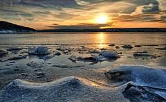Hvervenbukta, Norway (Vest der ute) Tags: norway akershus sea seascape winter winterscape landscape ice snow window clouds sky sunset rocks mountain reflections serene fav25 fav200