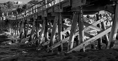 Bare Island Fort (StefanKleynhans) Tags: bridge timbers fort bareislandfort island sydney nsw australia blackandwhite bw water ocean contrast nikon d7100 50mm
