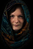 The everlasting stare (Alexander P.F. Stijlaart) Tags: dutch canon 5d mkiii scarf portrait head colors eyes stare everlasting piercing brunette sister