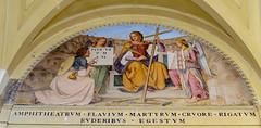 Fresko der Märtyrer des Kolosseums (Markus Wollny) Tags: city vatikan rom cittàdelvaticano vatikanstadt it