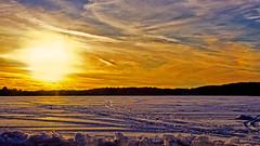 Winter Contours (Bob's Digital Eye) Tags: bobsdigitaleye canon canonefs1855mmf3556isll flicker flickr frozenlake h2o ice lakesunset lakescape landscape march2018 snowscene sunset t3i winter wintercolour winterinmn ☯laquintaessenza☯